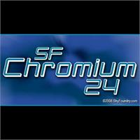 Sample image of SF Chromium 24 font by ShyFoundry