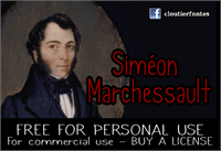 Sample image of CF Simon Marchessault font by CloutierFontes