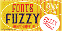 Sample image of FUZZY bold font by Fontsandfashion