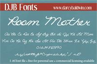 Sample image of DJB ROOM MOTHER script font by Darcy Baldwin Fonts