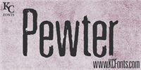 Sample image of Pewter font by KC Fonts