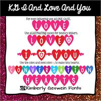 Sample image of KG I And Love And You font by Kimberly Geswein