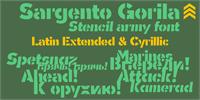 Sample image of Sargento Gorila font by deFharo