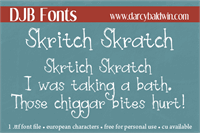 Sample image of DJB Skritch Skratch font by Darcy Baldwin Fonts