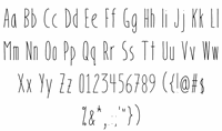 Sample image of BookendsWithAccents font by IntestinoGrueso