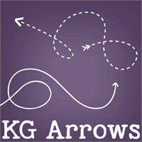 Sample image of KG Arrows font by Kimberly Geswein