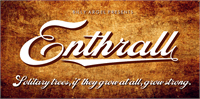 Sample image of Enthrall Personal Use font by Billy Argel