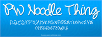 Sample image of PWNoodleThing font by Peax Webdesign