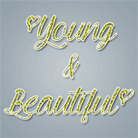 Sample image of Young & Beautiful font by Misti's Fonts