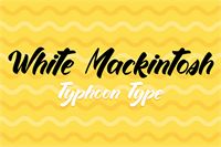 Sample image of White Mackintosh font by Typhoon Type - Suthi Srisopha