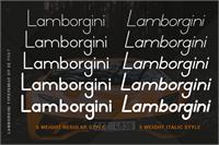 Sample image of Lamborgini font by Ibeydesign