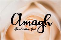 Sample image of Amagh font by Eva Barabasne Olasz