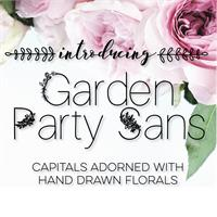 Sample image of GardenPartySans font by SarahTaylorDesigns