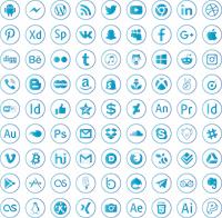 Sample image of social media font by elharrak