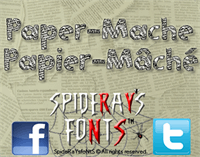 Sample image of Paper-Mache font by SpideRaYsfoNtS