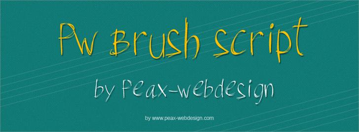 PWBrushScript font by Peax Webdesign