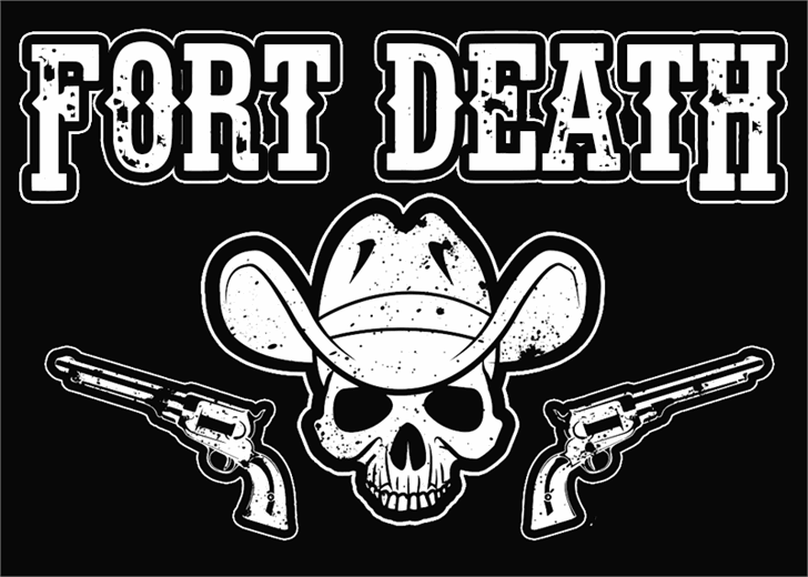 Fort Death font by Font Monger