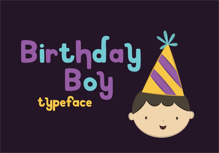 Birthday Boy font by Teresa Tiffany