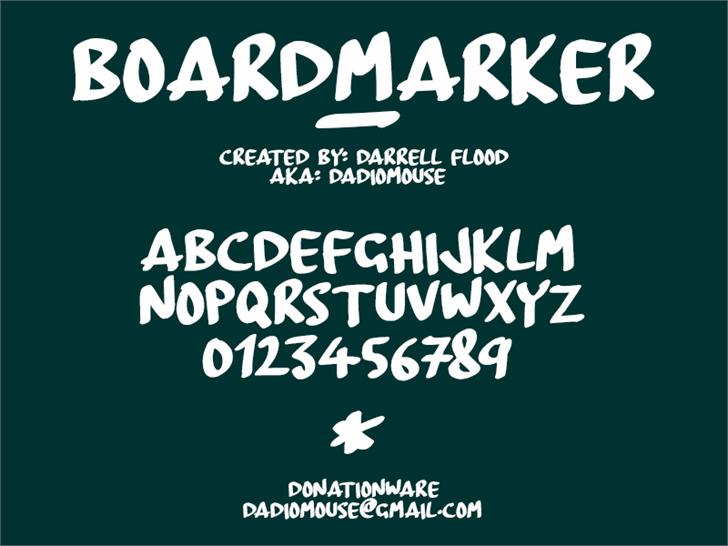 BoardMarker font by Darrell Flood