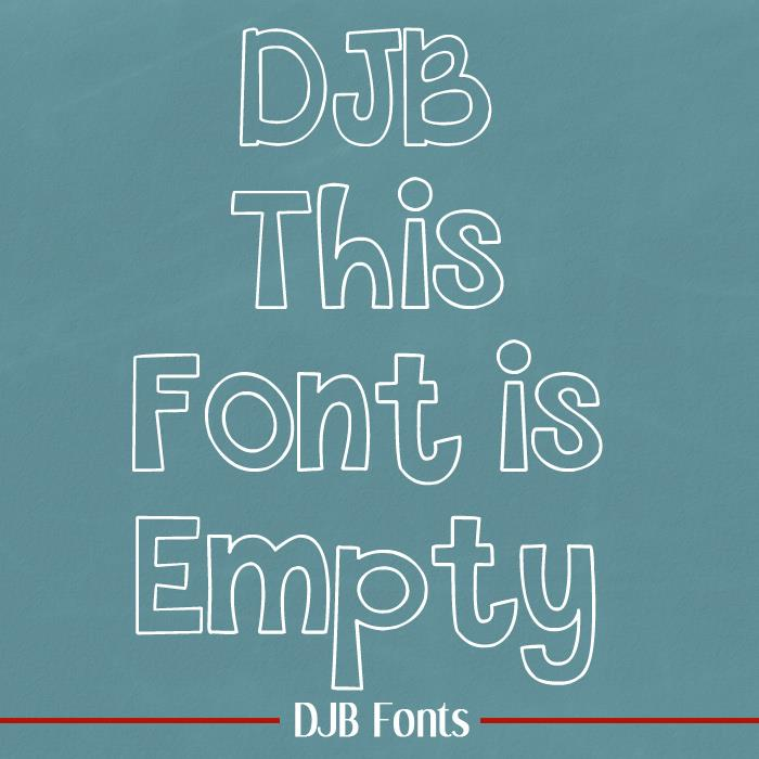 THIS FONT IS EMPTY font by Darcy Baldwin Fonts