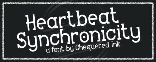 Heartbeat Synchronicity font by Chequered Ink