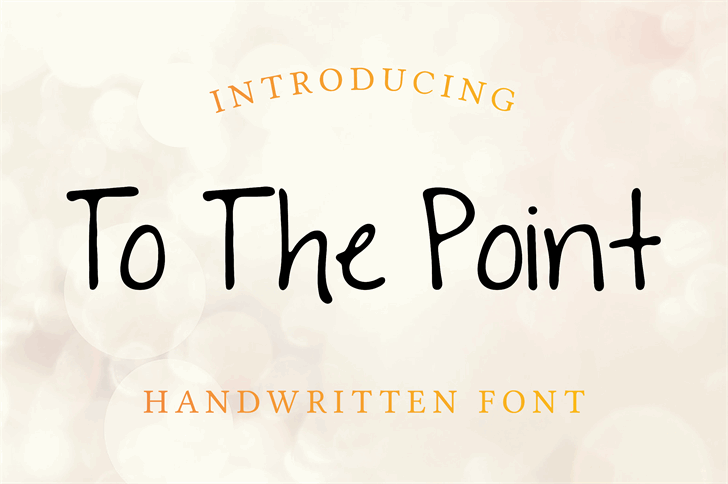 To The Point font by SavanasDesign