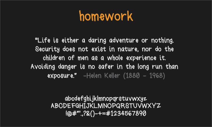 homework font by LALATO FONTS