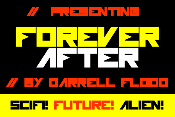 Forever After font by Darrell Flood