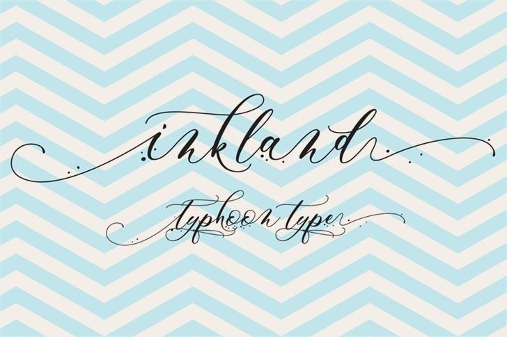 Inkland font by Typhoon Type - Suthi Srisopha