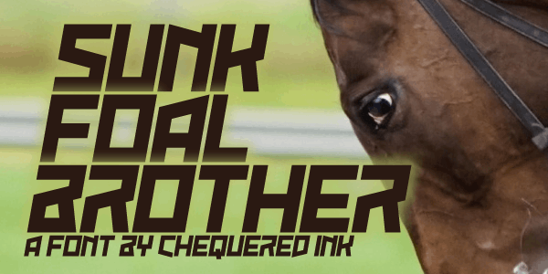 Sunk Foal Brother font by Chequered Ink