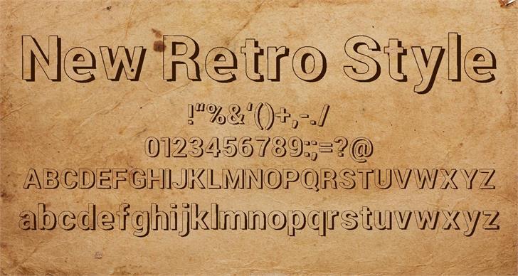 New Retro Style 3d font by Hardik