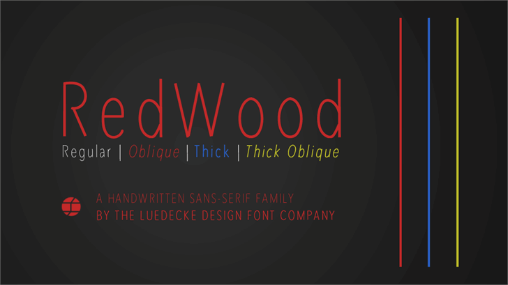 RedWood font by Jake Luedecke Motion & Graphic Design
