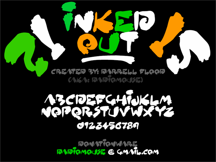 Inked Out font by Darrell Flood