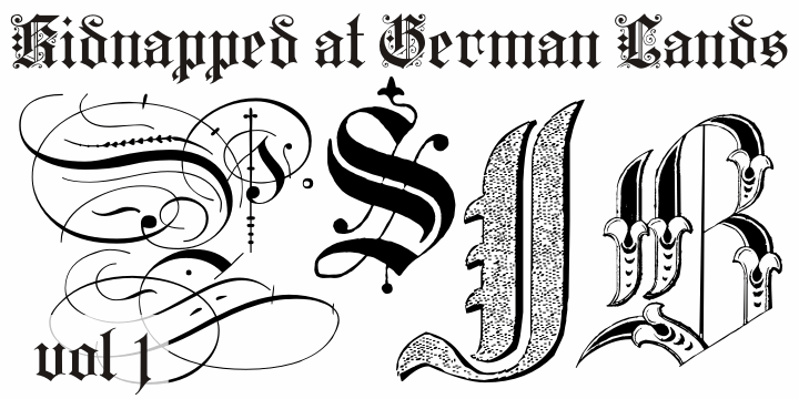 Kidnapped at German Lands font by Intellecta Design
