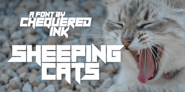 Sheeping Cats font by Chequered Ink