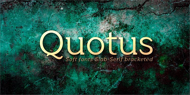 Quotus Bold font by deFharo