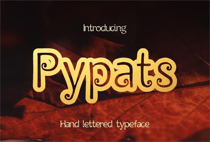 Pypats font by Eva Barabasne Olasz
