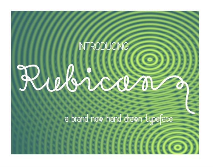 Rubican font by Eva Barabasne Olasz