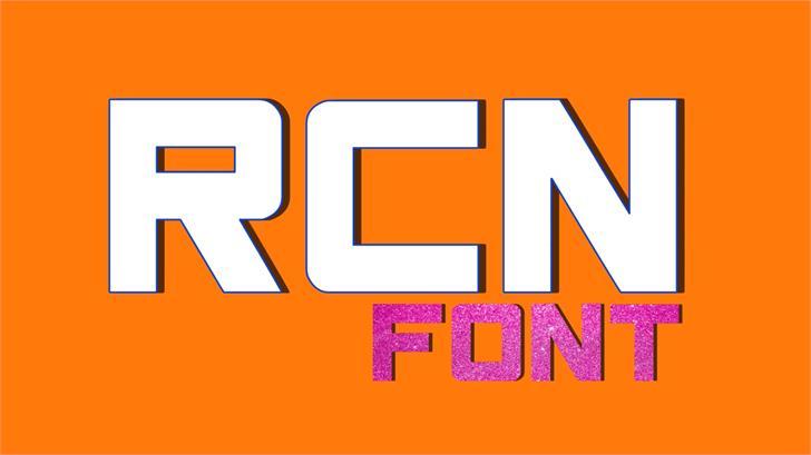 RCN font by TFonts1
