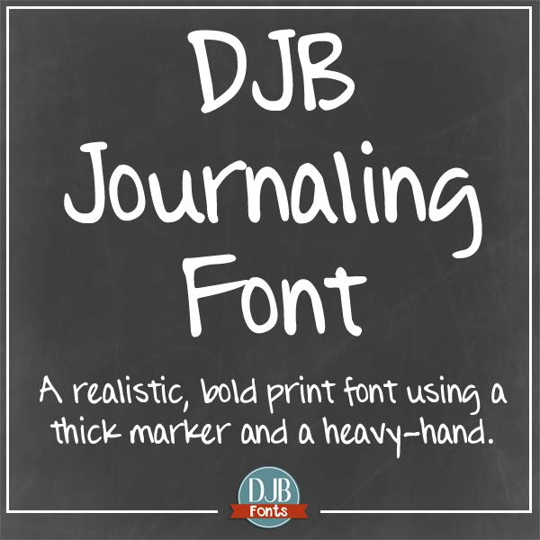 DJB Journaling Font by Darcy Baldwin Fonts
