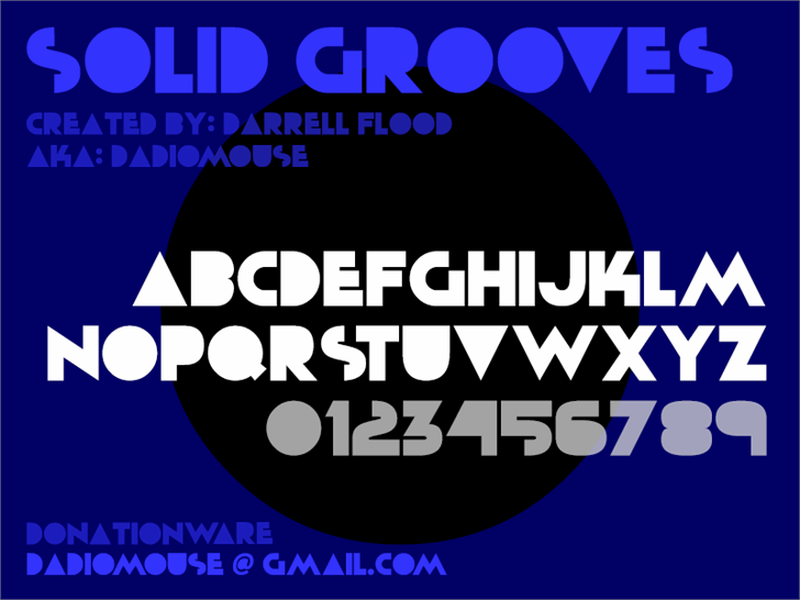 Solid Grooves font by Darrell Flood