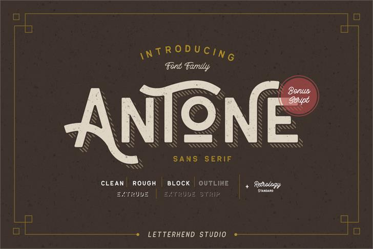 Antone DEMO font by Letterhend Studio