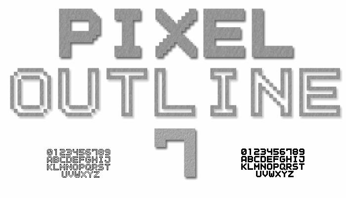 Outline Pixel7 Solid font by Style-7