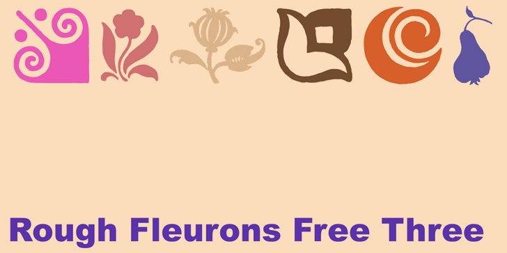 Rough Fleurons Free Three font by Intellecta Design