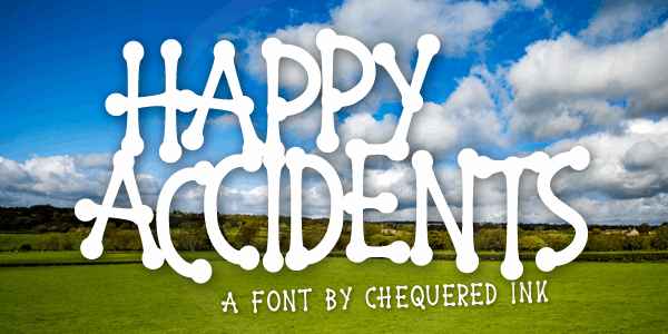Happy Accidents font by Chequered Ink