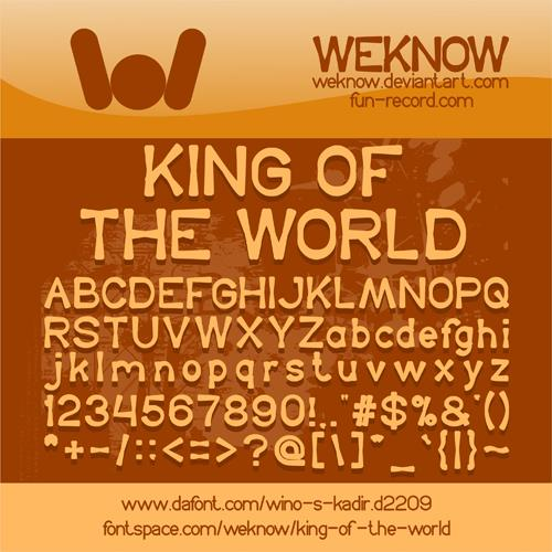 King Of The World font by weknow