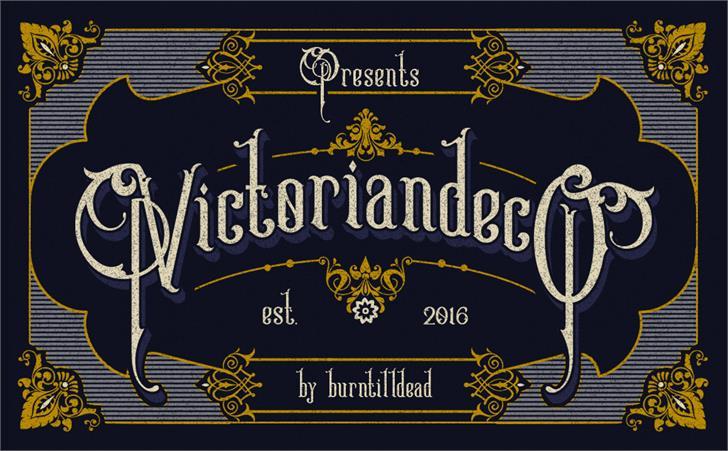Victoriandeco Regular font by burntilldead