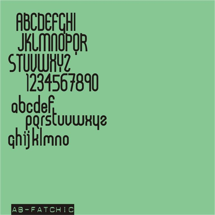 AB FatChic font by redFONTS