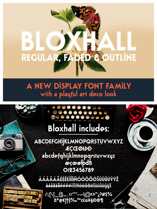 Bloxhall Sample font by justlikethistrain