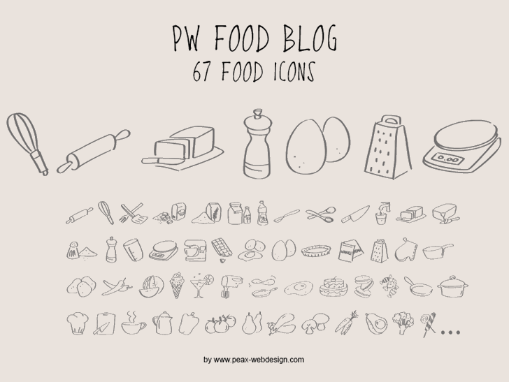 PWFoodblog font by Peax Webdesign
